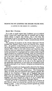 Reasons for not accepting the English Prayer. A letter to the Bishop of St. Andrews
