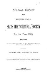 Annual Report of the Minnesota State Horticultural Society: For the Year