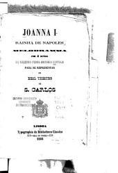 Joanna I, rainha de Napoles: melodramma em 4 [i.e. quatro] actos