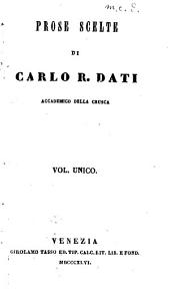 Prose scelte di Carlo R. Dati