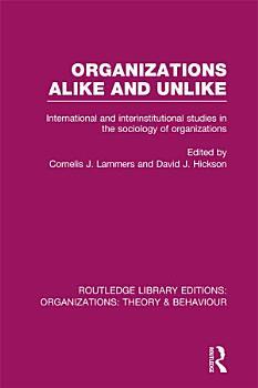 Organizations Alike and Unlike  RLE  Organizations  PDF