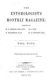 The Entomologist's Monthly Magazine: Volume 8