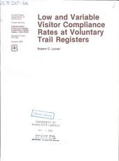 Low and variable visitor compliance rates at voluntary trail registers