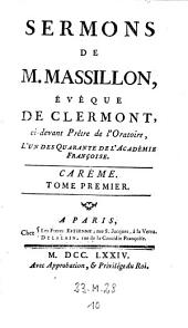 Sermons. - Paris, Freres Estienne 1760-74: Volume1;Volume10