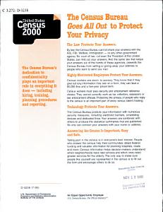 The Census Bureau Goes All Out to Protect Your Privacy Book