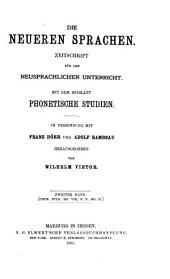 Die Neueren Sprachen: Volume 2
