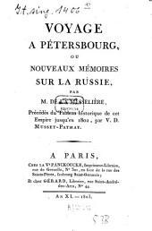 Voyage à Pétersbourg, ou, Nouveaux mémoires sur la Russie