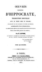 Oeuvres complètes d'Hippocrate: Volume 7