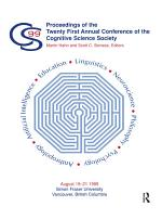 Proceedings of the Twenty-first Annual Conference of the Cognitive Science Society