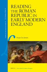 Reading the Roman Republic in Early Modern England