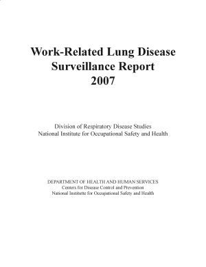 Work Related Lung Disease Surveillance Report  2007  7th Ed    PDF