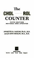 The Cholesterol Counter PDF