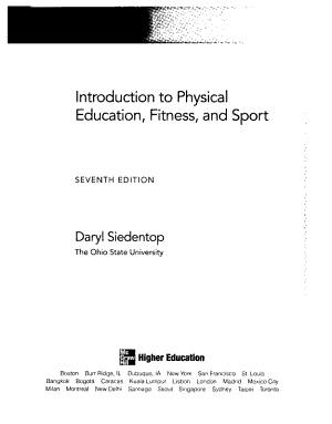 Introduction to Physical Education  Fitness  and Sport PDF