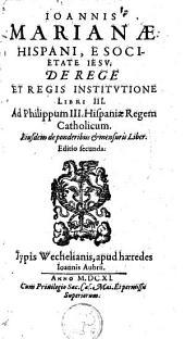 De rege et regis institutione libri III.