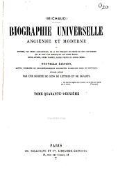 Biographie universelle ancienne et moderne ou histoire par ordre alphabétique, de la vie privée et publique de tous les hommes qui...