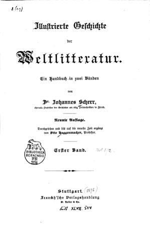 Illustrierte Geschichte der Weltlitteratur PDF