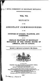 Report of the Commissioners ...