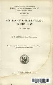 Results of spirit leveling in Michigan, 1911 and 1913: Issues 555-564