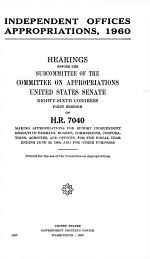 Independent Offices Appropriations, 1961