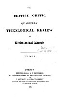 The British Critic and Quarterly Theological Review PDF