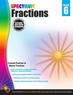 Fractions Workbook, Grade 6
