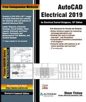 AutoCAD Electrical 2019 for Electrical Control Designers  10th Edition PDF