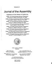 Journal of the Assembly, Legislature of the State of California: Volume 6