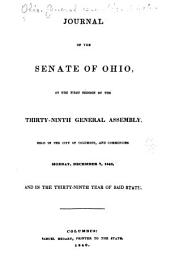 Journal of the Senate of the ... General Assembly of the State of Ohio ...: Volume 39