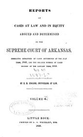 Reports of cases at law and in equity argued and determined in the Supreme Court of Arkansas: Volume 10