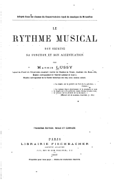 Le rythme musical: son origine, sa fonction et son accentuation