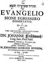 De evangelio Sione egressuro dissertatio