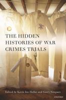 The Hidden Histories of War Crimes Trials PDF