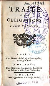 Traité des obligations: Volume 1