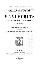 Catalogue général des manuscrits des bibliothèques publiques de France: Départements, Volume14