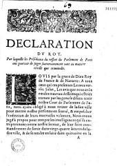 Déclaration dv Roy [du 22 janvier] par laquelle les présidiaux du ressort du parlement de Paris ont pouvoir de juger souverainement tant en matière civille que criminelle