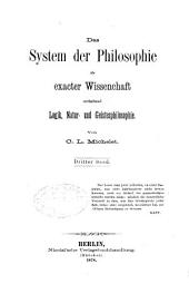 Das system der philosophie als exacter wissenschaft: bd. Philosophie des geistes.-4