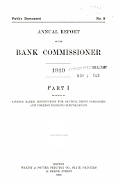 Annual Report of the Commissioner of Banks ...