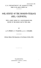 Soil Survey of the Modesto-Turlock Area, California, with a Brief Report on a Reconnaissance Soil Survey of the Region East of the Area