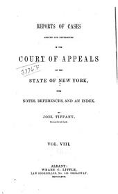 Reports of Cases Decided in the Court of Appeals of the State of New York: Volume 35