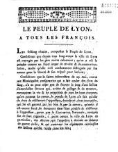 Le Peuple de Lyon, à tous les Français