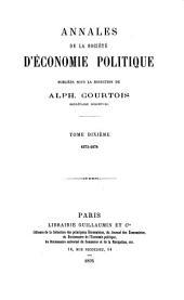 Annales d'économie politique: 1873-1874, Volume10