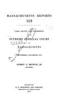 Massachusetts Reports PDF