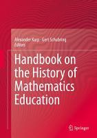 Handbook on the History of Mathematics Education PDF