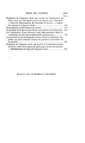 Les propriétés générales et la résolution numérique des équations. Les fonctions symétriques