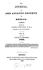 Journal of the Asiatic Society of Bengal: Volume 2
