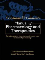 Goodman and Gilman s Manual of Pharmacology and Therapeutics PDF