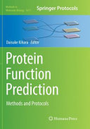 Protein Function Prediction  Methods and Protocols