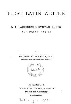 First Latin writer PDF