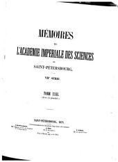 Mémoires de l'Académie impériale des sciences de Saint-Pétersbourg: Volume26