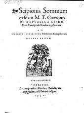 Scipionis Somnium ex sexto M. T. Ciceronis De Repvblica Libro, Petri Rami prælectionibus explicatum